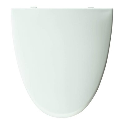 Church Elisse Plastic Elongated Toilet Seat Finish: White