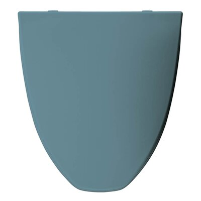 Church Plastic Elongated Toilet Seat Finish: Regency Blue