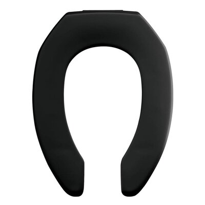 Church Commercial Plastic Elongated Toilet Seat Finish: Black