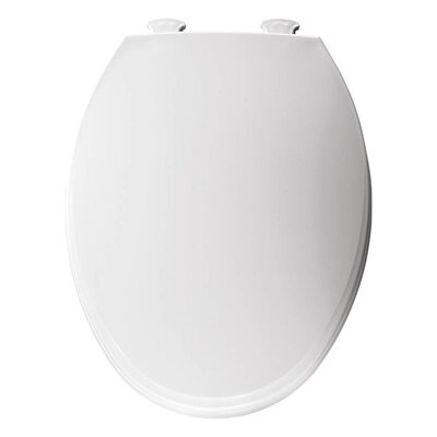 Church Lift Off Plastic Elongated Toilet Seat Finish: White