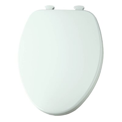 Church Lift Off Wood Elongated Toilet Seat Finish: White