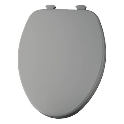 Church Lift Off Wood Elongated Toilet Seat Finish: Silver