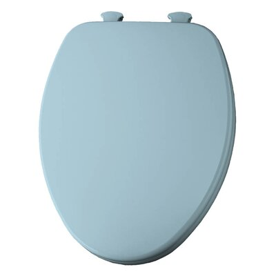 Church Lift Off Wood Elongated Toilet Seat Finish: Dresden Blue