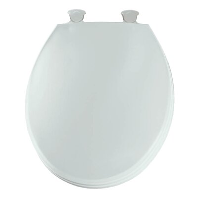 Church Lift Off Plastic Round Toilet Seat Finish: White