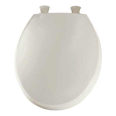 Church Lift Off Plastic Round Toilet Seat Finish: Biscuit