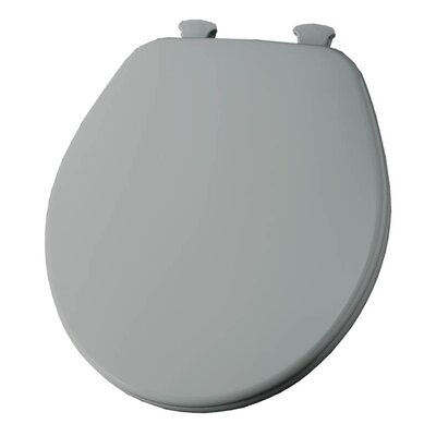 Church Lift Off Wood Round Toilet Seat Finish: Silver