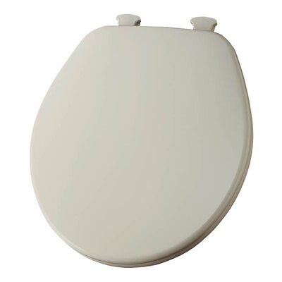Church Lift Off Wood Round Toilet Seat Finish: Almond