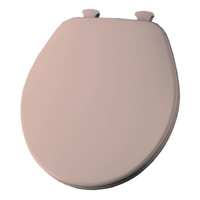 Church Lift Off Wood Round Toilet Seat Finish: Venetian Pink