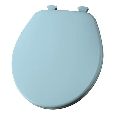 Church Lift Off Wood Round Toilet Seat Finish: Dresden Blue
