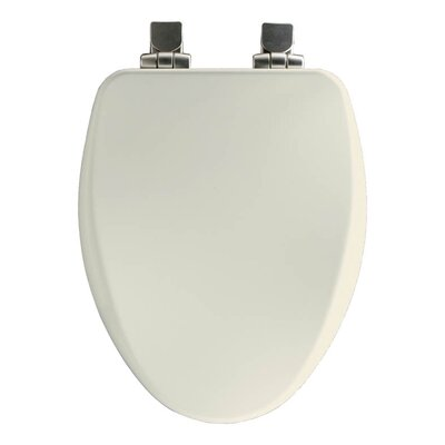Church Wood Slow Close Elongated Toilet Seat Hinge Finish: Brushed Nickel, Finish: Biscuit