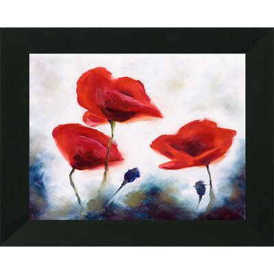 'Blooming Poppies' Framed Print