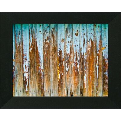 'Distressed Painted Planks II' Framed Print