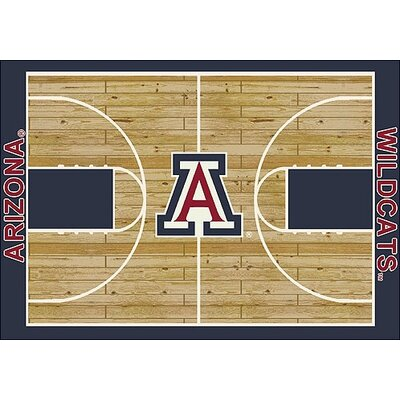 NCAA College Home Court Arizona Novelty Rug Rug Size: 310 x 54