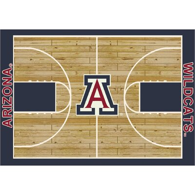 NCAA Area Rug Rug Size: Rectangle 109 x 132, NCAA Team: University of Arizona