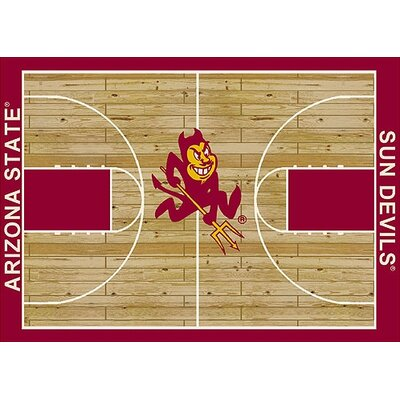 NCAA College Home Court Arizona State Novelty Rug Rug Size: Rectangle 109 x 132