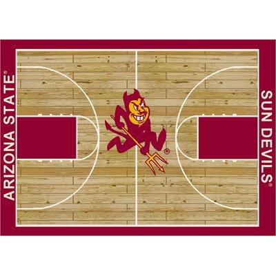 College Court Arizona State Sun Devils Rug Rug Size: 54 x 78