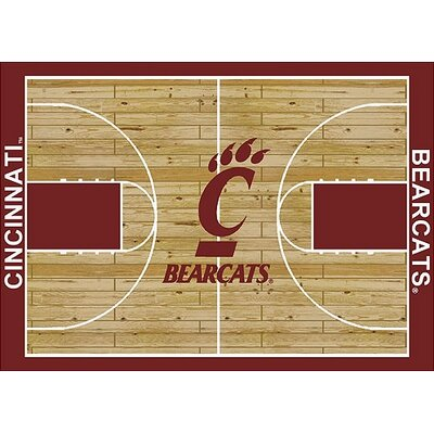 NCAA College Home Court Cincinnati Novelty Rug Rug Size: Rectangle 109 x 132
