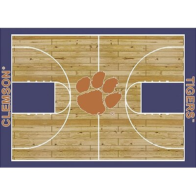 NCAA College Home Court Clemson Novelty Rug Rug Size: Rectangle 109 x 132