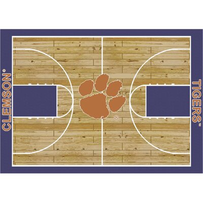 College Court Clemson Tigers Rug Rug Size: 54 x 78