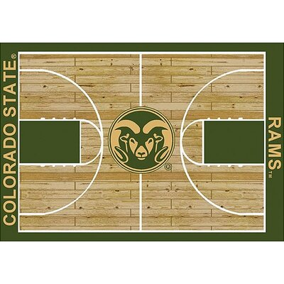 NCAA College Home Court Colorado State Novelty Rug Rug Size: Rectangle 109 x 132