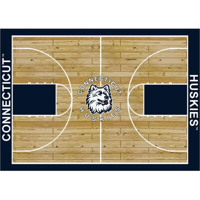 College Court Connecticut Huskies Rug Rug Size: 109 x 132