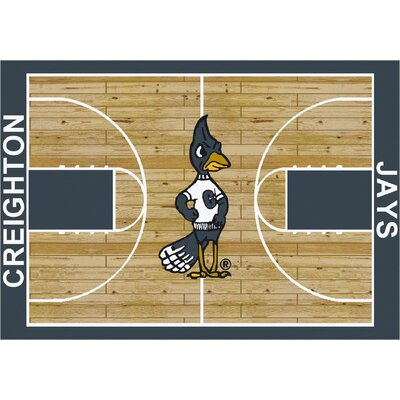 College Court Creighton Bluejays Rug Rug Size: 54 x 78