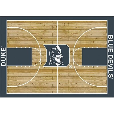 NCAA College Home Court Duke Novelty Rug Rug Size: Rectangle 109 x 132
