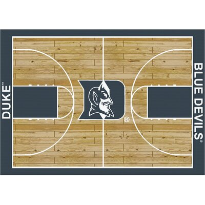 College Court Duke Blue Devils Rug Rug Size: 109 x 132