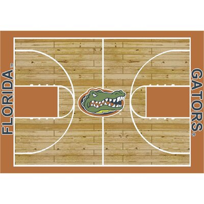 College Court Florida Gators Rug Rug Size: 78 x 109