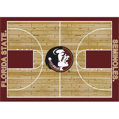 College Court Florida State Seminoles Rug Rug Size: 54 x 78