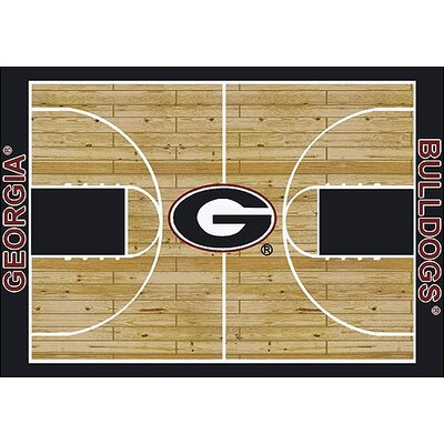 NCAA College Home Court Georgia Novelty Rug Rug Size: Rectangle 78 x 109