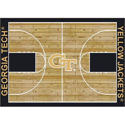 College Court Georgia Tech Yellow Jackets Rug Rug Size: 109 x 132
