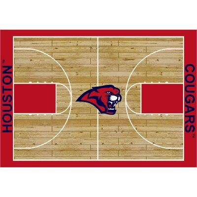 College Court Houston Cougars Rug Rug Size: 54 x 78
