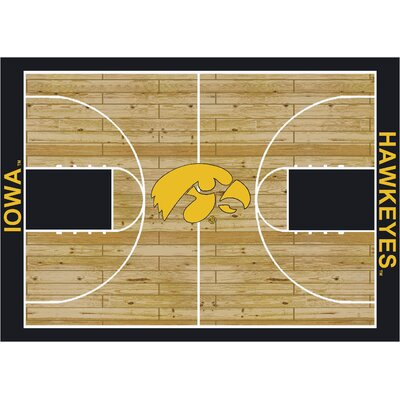 College Court Iowa Hawkeyes Rug Rug Size: 109 x 132