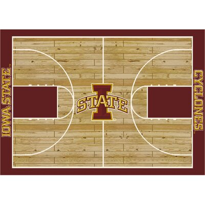 College Court Iowa State Cyclones Rug Rug Size: 109 x 132