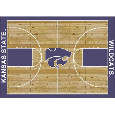 College Court Kansas State Wildcats Rug Rug Size: 109 x 132