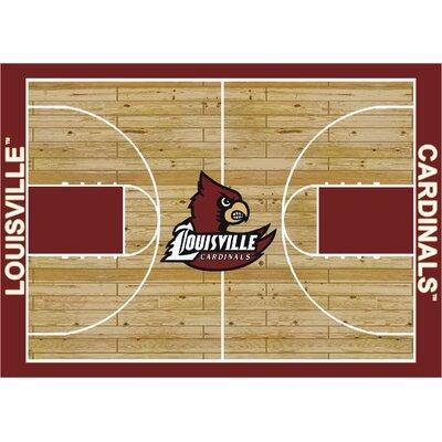 College Court Louisville Cardinals Rug Rug Size: 54 x 78