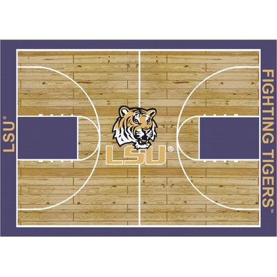 College Court LSU Tigers Rug Rug Size: 54 x 78