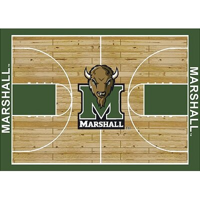 NCAA College Home Court Marshall Novelty Rug Rug Size: Rectangle 109 x 132