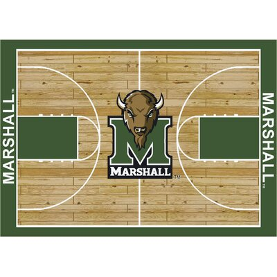 College Court Marshall Thundering Herd Rug Rug Size: 78 x 109