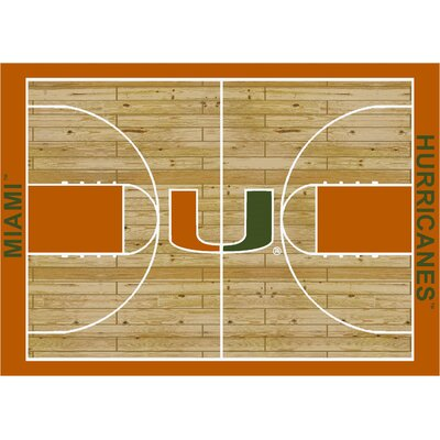College Court Miami Hurricanes Rug Rug Size: 54 x 78