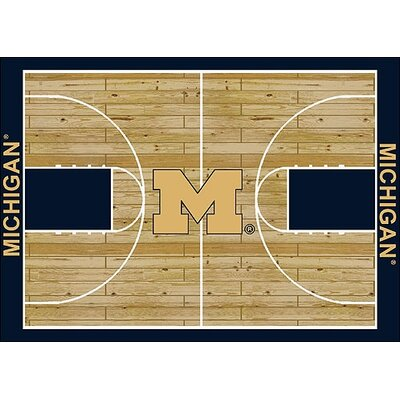 NCAA College Home Court Michigan Novelty Rug Rug Size: Rectangle 109 x 132