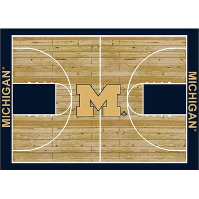 College Court Michigan Wolverines Rug Rug Size: 109 x 132