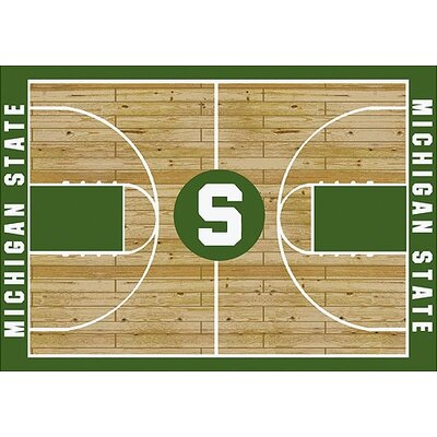 NCAA College Home Court Michigan State Novelty Rug Rug Size: Rectangle 109 x 132