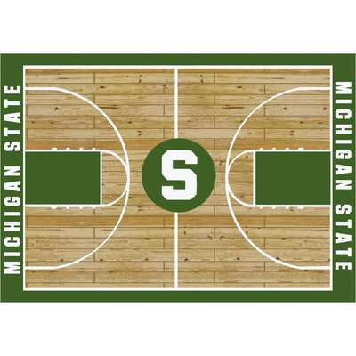 College Court Michigan State Spartans Rug Rug Size: 109 x 132