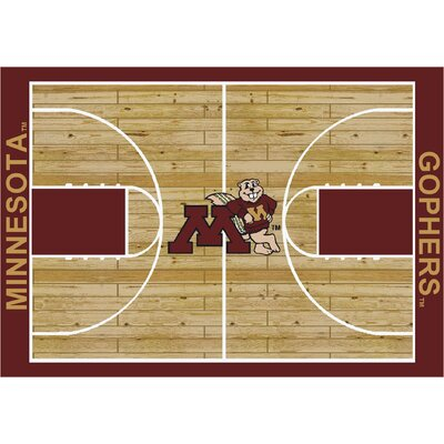 College Court Minnesota Gophers Rug Rug Size: 109 x 132