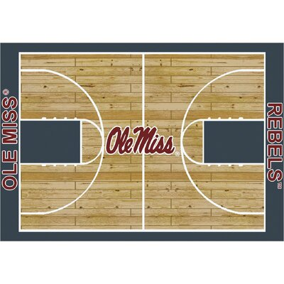 College Court Ole Miss Rebels Rug Rug Size: 54 x 78