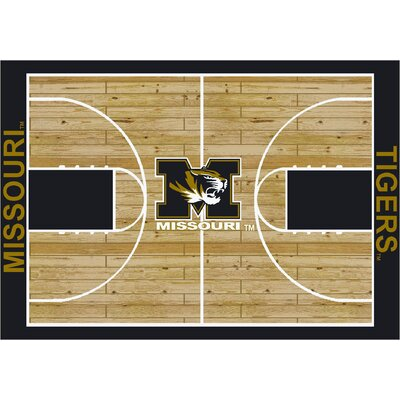 College Court Missouri Tigers Rug Rug Size: 109 x 132
