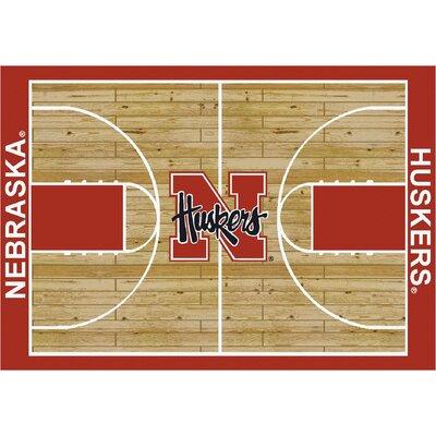 College Court Nebraska Cornhuskers Rug Rug Size: 78 x 109