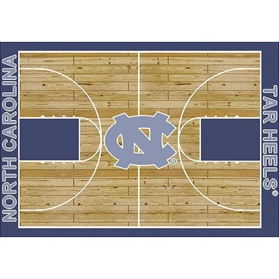 NCAA College Home Court North Carolina Novelty Rug Rug Size: Rectangle 109 x 132